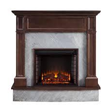 stone media electric fireplace in dark espresso
