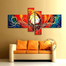 canvas wall paintings abstract canvas oil painting handmade modern abstract wall art picture large red paintings for living room home decor no frame in
