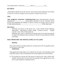 Lease Contract Sample Vehicle Lease Agreement Template Car Lease Contract Template Rental