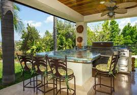 Tropical Outdoor Kitchen Designs Interesting Decorating Design