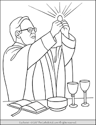Sacrament Holy Communion Eucharist Coloring Page The 7 Sacraments