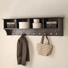 Coat Rack With Mirror And Shelf Oak Wall Mounted Coat Rack Ideas Home Picture With Fascinating Wall 35