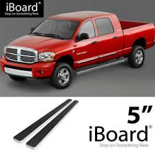 Details about Running Board Side Step 5in Silver Fit Dodge Ram 1500/2500/3500 Mega Cab 06-08