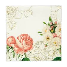Paper Flower Print Out Partyware Floral Paper Napkins The Knot Shop
