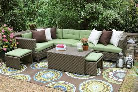 wicker patio furniture cushions. Crafty Design Ideas Wicker Patio Furniture Cushions Amazon Com AE Outdoor Hampton 8 Piece Sectional With U