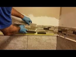 how to install glass mosaic tile in