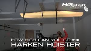 how high can you go with the harken hoister