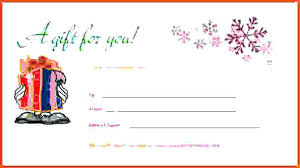 Microsoft Word Gift Certificate Template Gift Certificate Template Word Christmas Microsoft Free