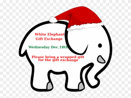 white elephant gift clip art. Contemporary Elephant White Elephant Gift Exchange Clip Art  Ivory Ella Drawing For T