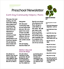 Preschool Newsletter Template Awesome Examples Of Preschool Newsletters Studiojpilates