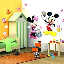 mickey mouse clubhouse bedroom mickey mouse bedroom wallpaper cartoon kids mouse removable wall stickers baby kids room poster cartoon wallpaper