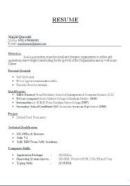 Resume Format For Freshers In Teaching Profession Resumes Format