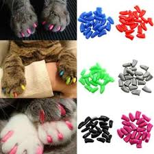 20 pcs dog cat anti scratch nail caps soft silicone paw cover puppy claw decoration manicure art cat supplies