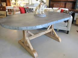 dining tables zinc top round dining table metal top round dining table oval shaped of