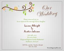 Wedding Inviting Words Informal Wedding Invitation Wording Samples Wordings And