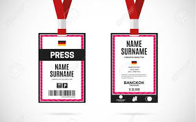 Royalty Lanyard Card Event Vectors Id With Design Cliparts Illustration Press Stock Set Free Image Text 68113023 And Vector