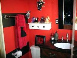 red and white shower curtain red and black shower curtain white wooden shelf steel bar pole red and white shower curtain