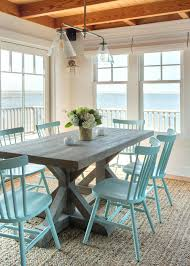 beach looking furniture. Coastal Dining Room Set With Blue Chairs Beach Style Furniture: Full Size Looking Furniture O