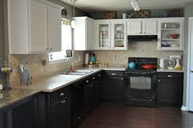 black bottom cabinets, white top cabinets - Kitchen Cabinets | For the Home  | Pinterest | Kitchens, Kitchen upgrades and Kitchen family rooms