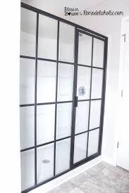amazing industrial shower door d i y factory window how to uk cleaner style looking steel bathroom sliding