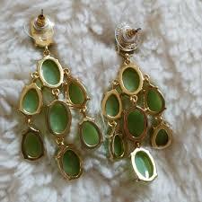 75 off stella dot jewelry stella dot mint green chandelier earrings from ali 039 s closet on