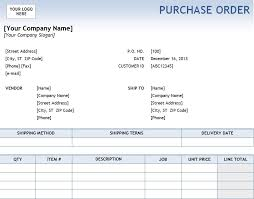 Purchase Order Templates Free Excel Purchase Order Template Purchase Order Template Excel