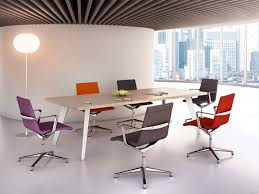contemporary boardroom table wooden laminate round