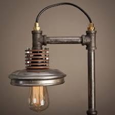 diy pipe lighting. Iron Pipe Lamp With Wood Base Diy Lighting