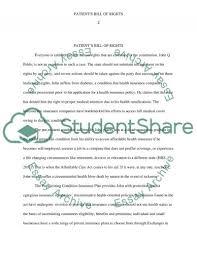 patient s bill of rights essay example topics and well written  patients bill of rights essay example