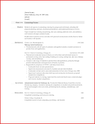 Awesome Cosmetologist Resume Personel Profile