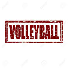 Volleyball Word Grunge Rubber Stamp With Word Volleyball Vector Illustration