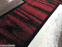 2x7 rug 3 of red black white abstract and square area rug contemporary rugs