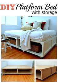 diy king platform bed with storage. Diy Under Bed Storage Frame Platform With  King