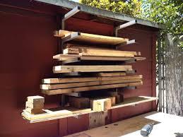 pictures of lumber yard storage racks