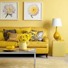 Living Room Color Floral Painting Design With Pale Yellow Wall Color For Small
