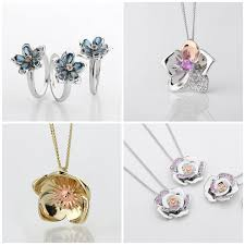 from beautiful blooms such as orchids ercups and roses to create timeless pieces adorned in luxury gemstones and all containing rare welsh gold