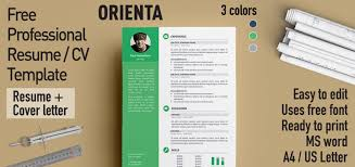 Classic Resume Template Word Awesome Orienta Free Professional Resume CV Template