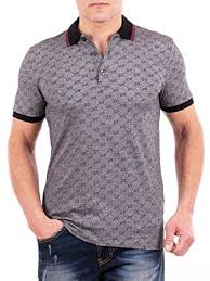 gucci polo. gucci polo shirt, mens gray short sleeve t- shirt gg print all sizes