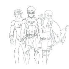 Nightwing Coloring Pages Coloring Pages Young Justice Kid Flash