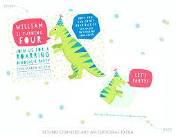 Personalised Dinosaur Party Invitations Purpleweddinginvitations