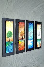blown glass wall art chic design fused hanging panels large artwork on plates decor blown glass wall art