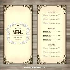 Free Template For Food Menu Template Free Free Restaurant