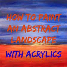 easy acrylic painting ideas abstract landscape