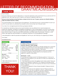 How To Put Together A Killer Recommendation Package Grant