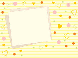 Cute Template Cute Yellow Photo Backgrounds Border Frames Design Love