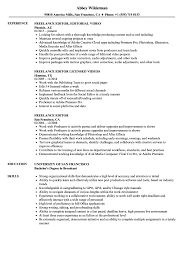 Freelance Editor Resume Samples Velvet Jobs