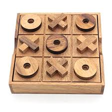 Naughts And Crosses Wooden Game Gorgeous Amazon BSIRI TicTacToe Classic Board Games Noughts And Crosses