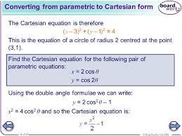 converting from parametric to cartesian form
