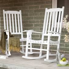 white wooden rocking chair. Coral Coast Indoor/Outdoor Mission Slat Rocking Chairs - White Set Of 2 | Hayneedle Wooden Chair D