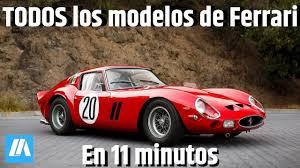 Mas carro feito para cliente, só em 1947, e ele se chamava 125s. Todos Los Modelos De Ferrari En 11 Minutos Youtube